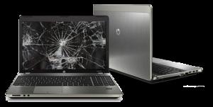 broken laptop screen
